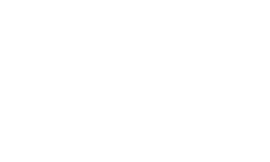 white version of brightgreen chiropractic logo